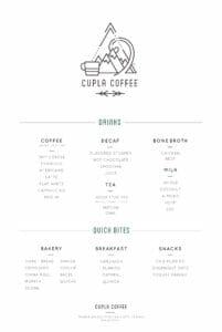 cupla coffee menu